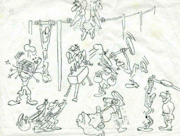 Карикатура: Физра ( из армейских), Виталий Степанов