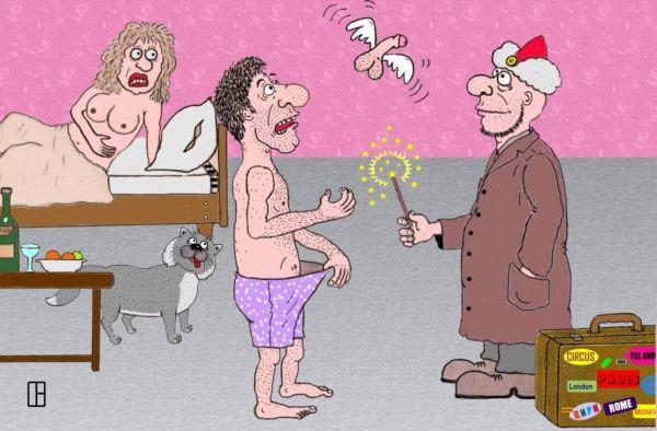 Карикатура: Fucker & Факир, Олег Тамбовцев