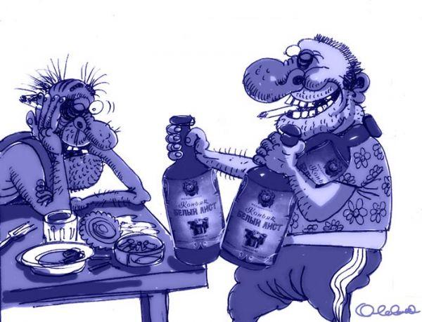 Карикатура: Сын приносит папе аиста, Олег Горбачёв