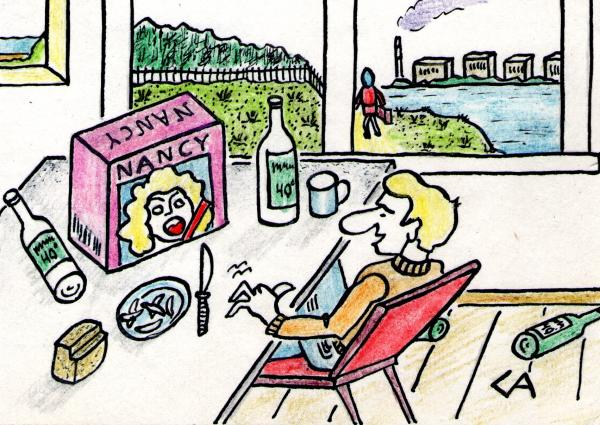 Карикатура: Молчание - золото, Анатолий Скороходов