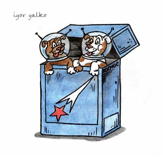 Карикатура: белка и стрелка, IgorHalko