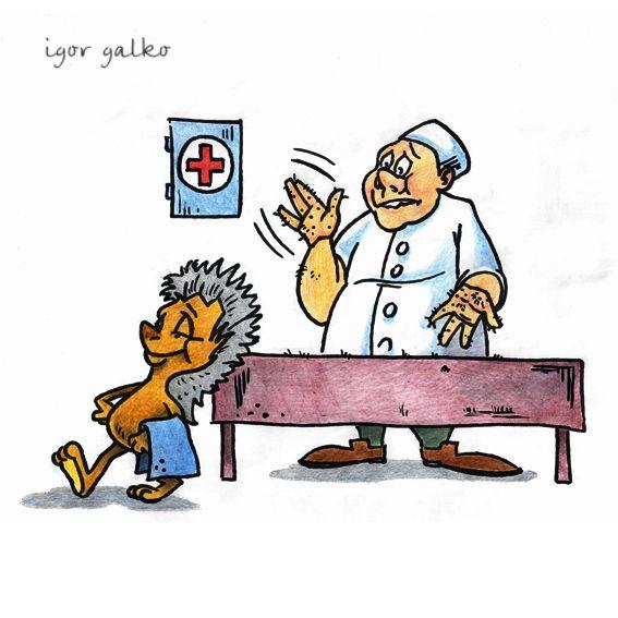 Карикатура: массажист, IgorHalko
