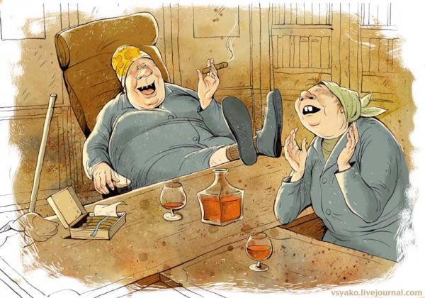 Карикатура: Уборка, Ольга Громова