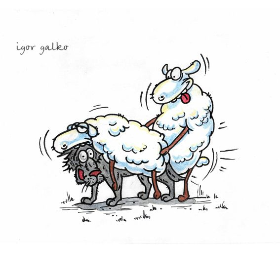 Карикатура: овцы, IgorHalko
