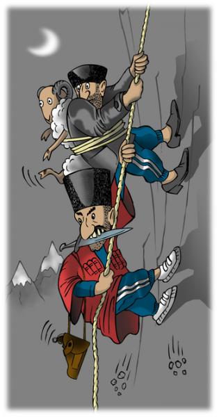 Карикатура: Добрые гости, Shaber