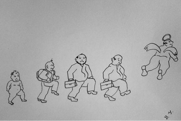 Карикатура: Разбег и взлет., владимир ву