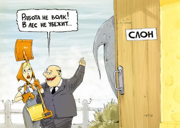 Карикатура: Работа не волк, Трофимов Дмитрий