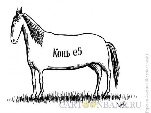 Карикатура: конь е-5, Гурский Аркадий