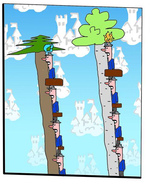 Карикатура: Чиновники грызут деревья, C1