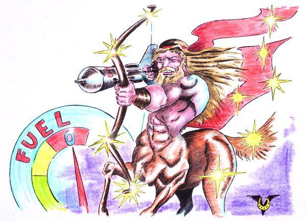 Карикатура: Энергия звезд, Владимир Уваров