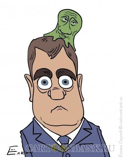 Карикатура: Симбиоз/тандем, Ёлкин Сергей