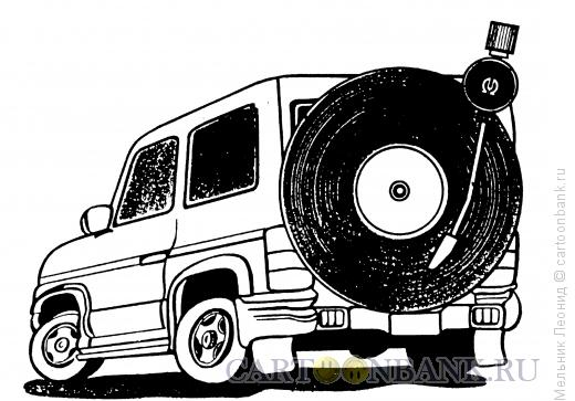 Карикатура: Меломан, Мельник Леонид