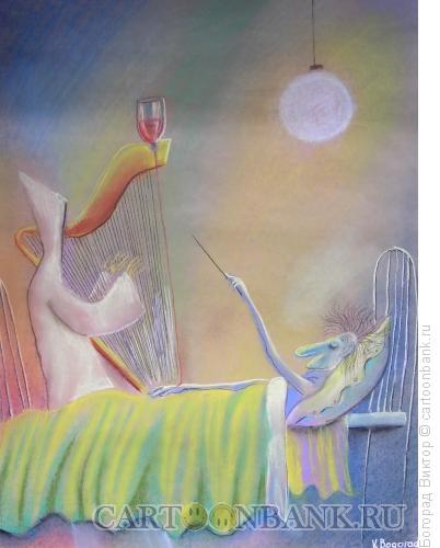 Карикатура: Смерть-арфистка, Богорад Виктор