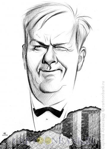 Карикатура: Собчак Анатолий, мэр Санкт-Петербурга, Сергеев Александр