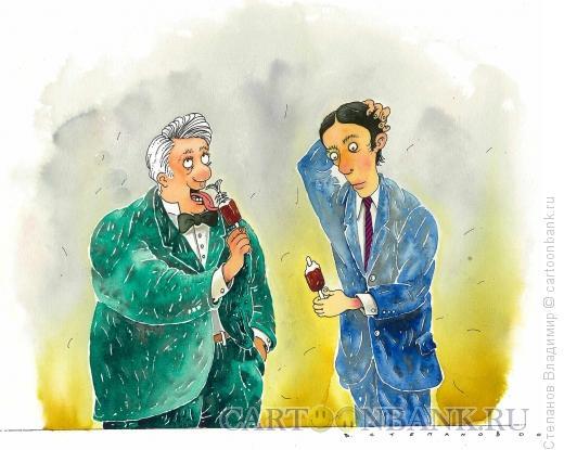 Карикатура: Толстый и тонкий, Степанов Владимир