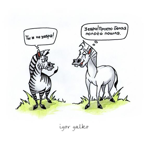 Карикатура: белая полоса, IgorHalko