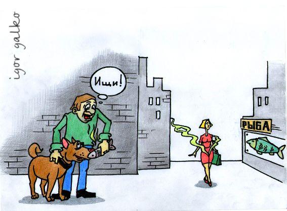 Карикатура: след, IgorHalko