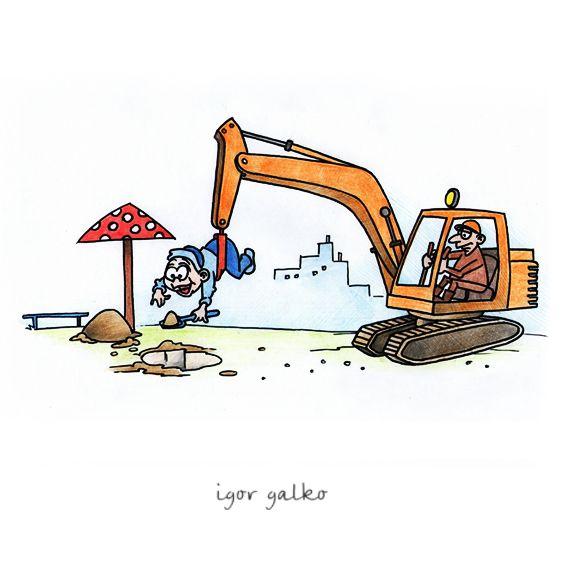 Карикатура: эксковатор, IgorHalko
