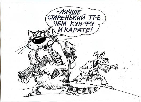 Карикатура: Старенький ТТ, Избасаров Бауржан