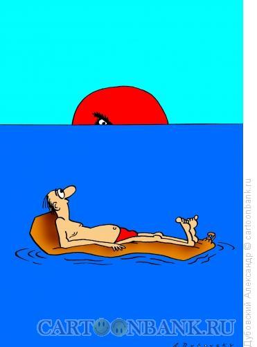 Карикатура: На море, Дубовский Александр