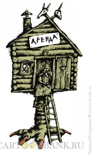 Карикатура: Аренда, Камаев Владимир