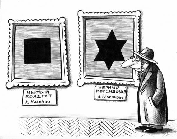 Карикатура: Рабинович и Малечич, Сергей Корсун