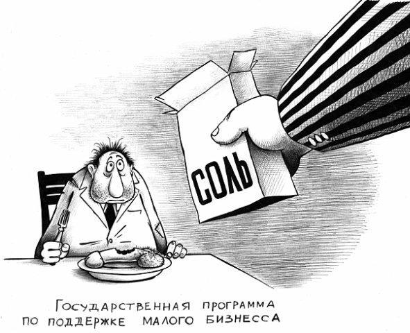 Карикатура: Программа поддержки малого бизнеса, Сергей Корсун
