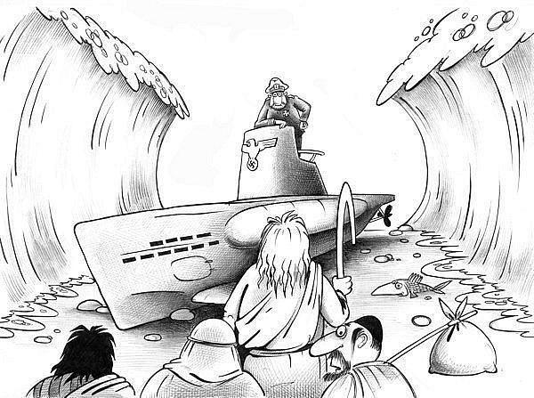 Карикатура: Исход, Сергей Корсун