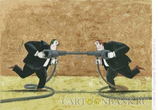 Карикатура: Отбойный молоток, Степанов Владимир