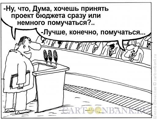 Карикатура: Бюджетный вопрос, Шилов Вячеслав
