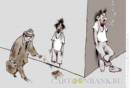 Карикатура: Перекур, Попов Александр