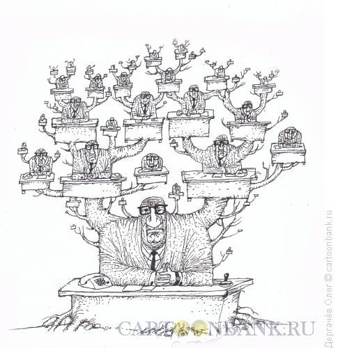 Карикатура на генеалогическое древо коррупционера