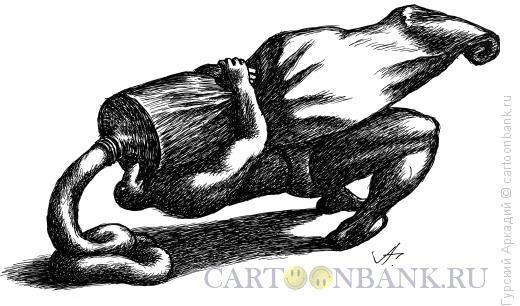 Карикатура: борец и тюбик с пастой, Гурский Аркадий