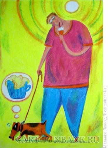 Карикатура: Кому чего, Мельник Леонид