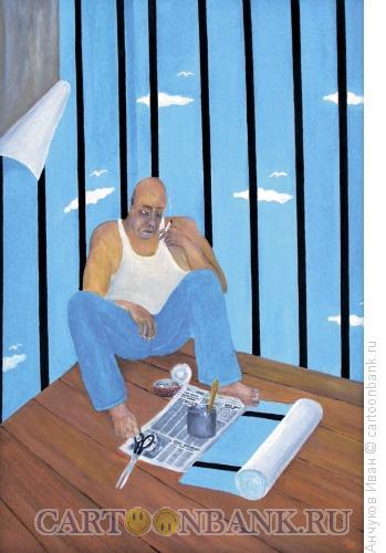 Карикатура: последний перекур, Анчуков Иван