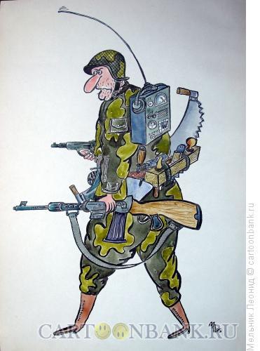 Карикатура: Солджер-миротворец, Мельник Леонид