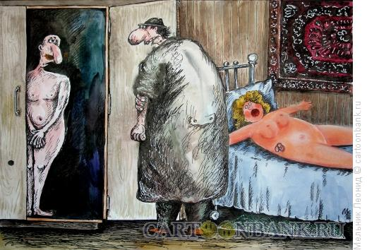 Карикатура: Чувак попал!.., Мельник Леонид