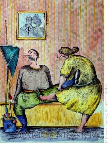 Карикатура: С рыбалки, Мельник Леонид