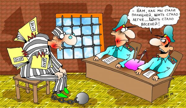 Карикатура: Шить стало легче!, Александр Хорошевский