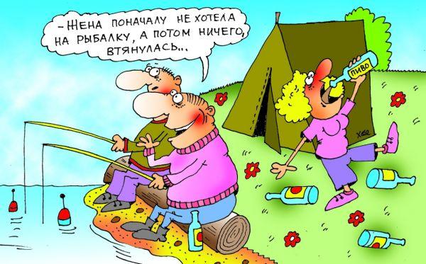 Карикатура: Втянулась, Александр Хорошевский
