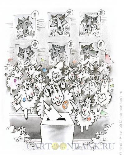 Карикатура: выборы для баранов, Осипов Евгений