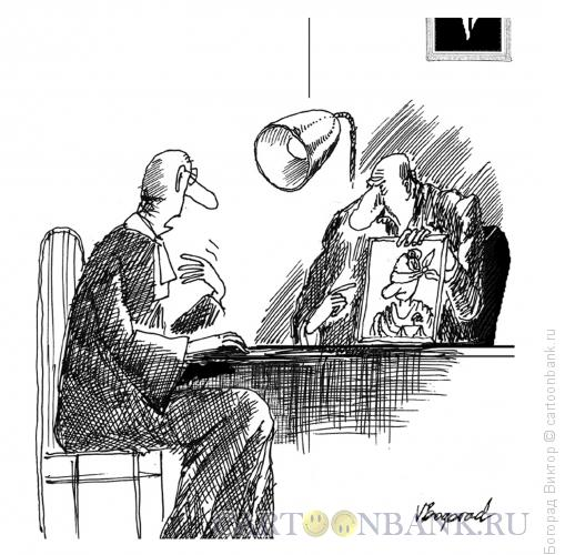 Карикатура: На допросе, Богорад Виктор