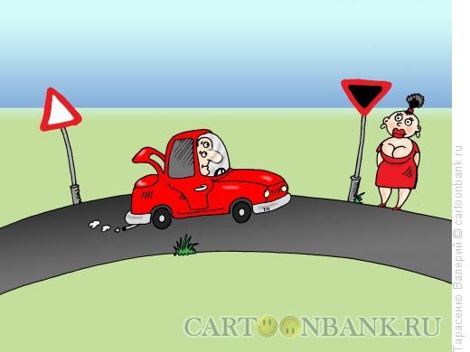 Карикатура: Дорожный указатель, Тарасенко Валерий