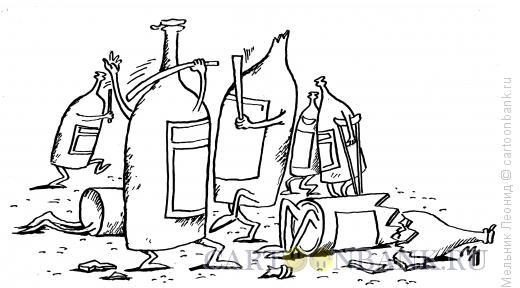Карикатура: Жестокая конкуренция, Мельник Леонид