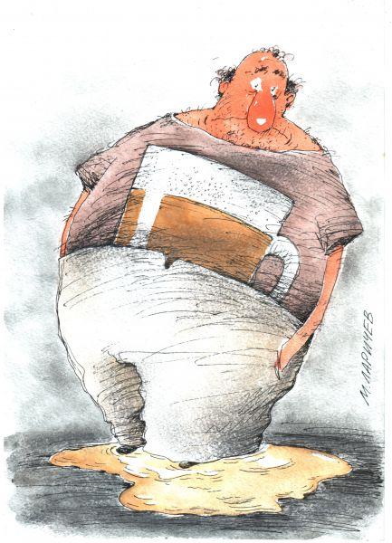 Карикатура: пиво, михаил ларичев