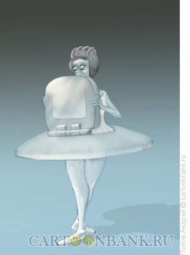 Карикатура: Балерина, Попов Андрей