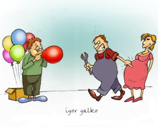 Карикатура: надул, IgorHalko