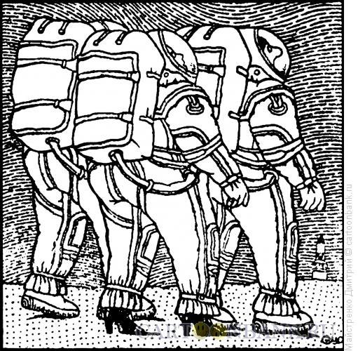 Карикатура: Женщина-космонавт, Майстренко Дмитрий