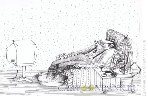 Карикатура: В мире животных, Дергачёв Олег
