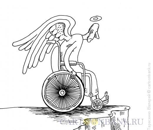 Карикатура: Ангел-инвалид, Тарасенко Валерий